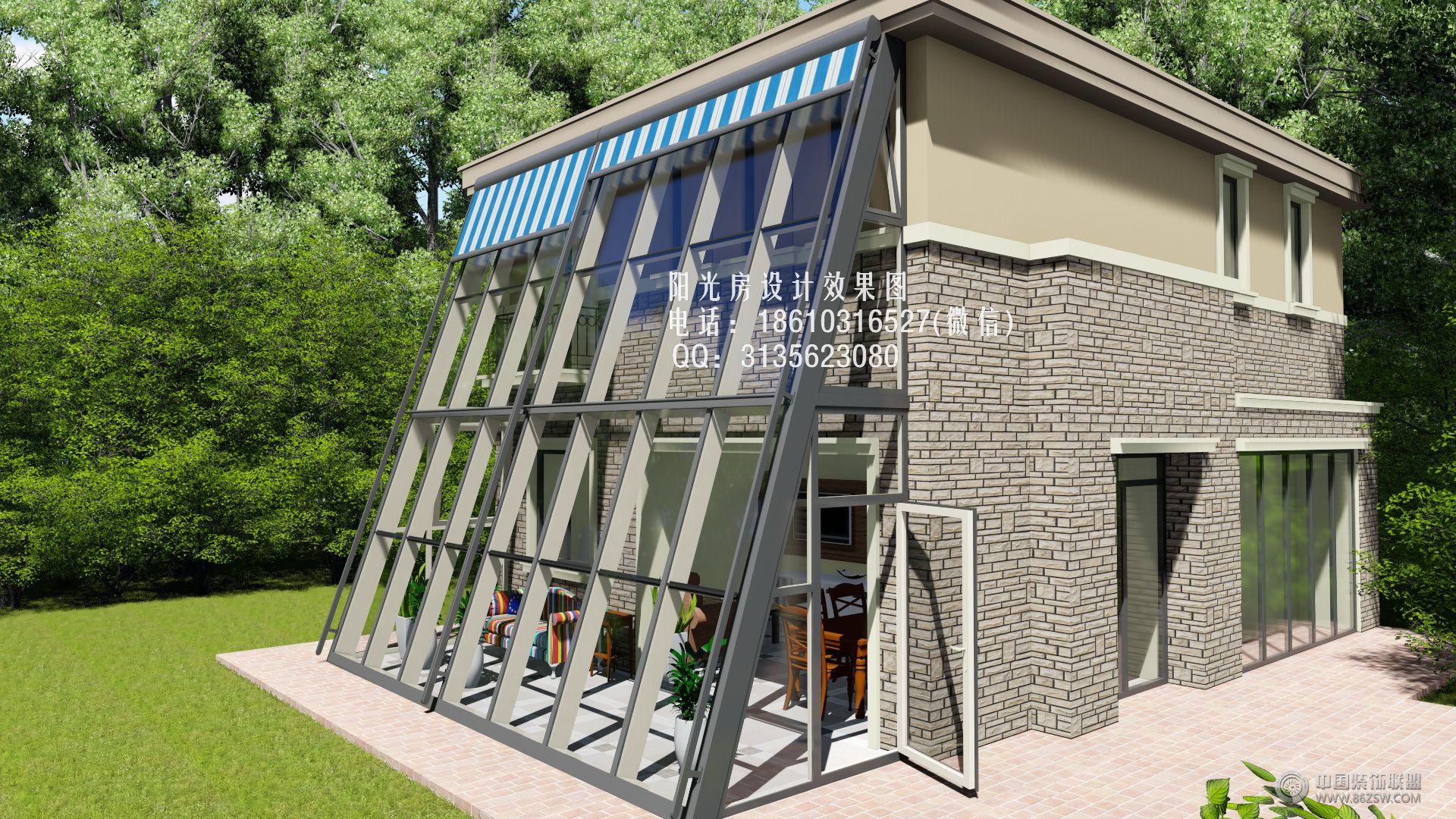 幕墙阳光房设计效果图-客厅装修图片