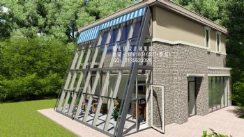 幕墙阳光房设计效果图欧式风格别墅