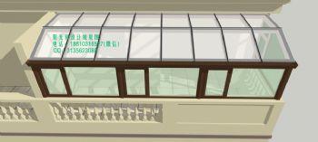 D9228露台阳光房设计效果图简