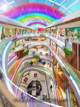 时尚城市综合体装修效果图引来众多目光:哈尔滨彩虹城购物乐园