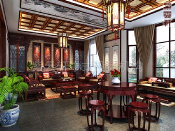 古典中式别墅设计装修案例古典风格别墅