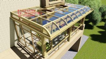 D5314铝合金阳光房设计效果图欧式风格别墅