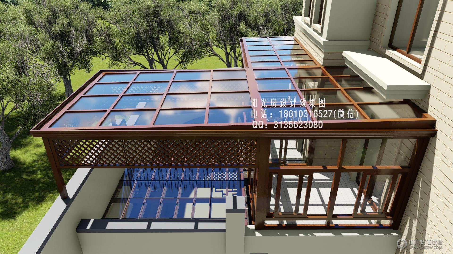 d5528雨棚阳光房设计效果图-客厅装修图片