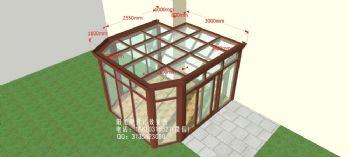 D6212铝合金阳光房设计效果图简田园风格