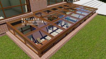下沉式庭院阳光房设计效果图中式风格复式