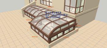 D9430天井阳光房设计效果图简欧式风格