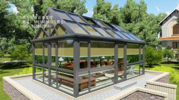 阳光房蜂巢帘设计效果图东南亚风格公寓