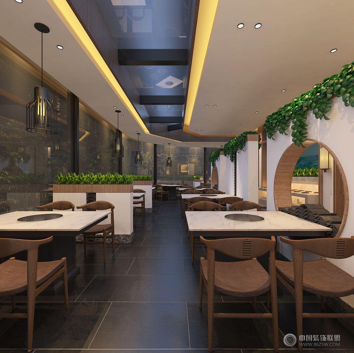 【元本設計】巴山牛肉火鍋-單張展示-餐館裝修效果圖