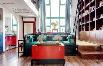 【久栖设计】北京丽舍公寓丨新中式风格设计中式风格复式