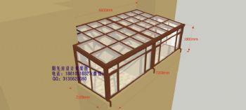 D6416露台阳光房设计效果图简
