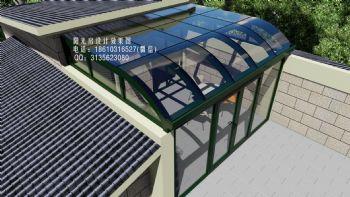 D6512上海门窗阳光房设计效果图