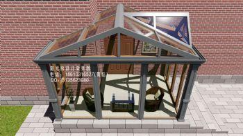 D6715北京铝包木阳光房设计效果图