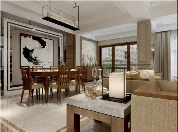 【保利大家】新中式风格中式风格客厅