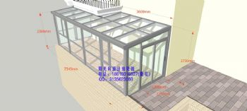 D6807铝合金阳光房设计效果图简简约风格复式