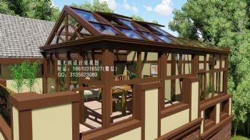 D6910人字顶阳光房设计效果图简约风格客厅