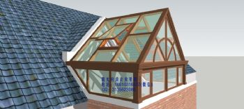 D7002铝包木阳光房设计效果图欧式风格客厅