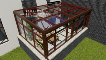 D7128隔热阳光房设计效果图中式风格小户型