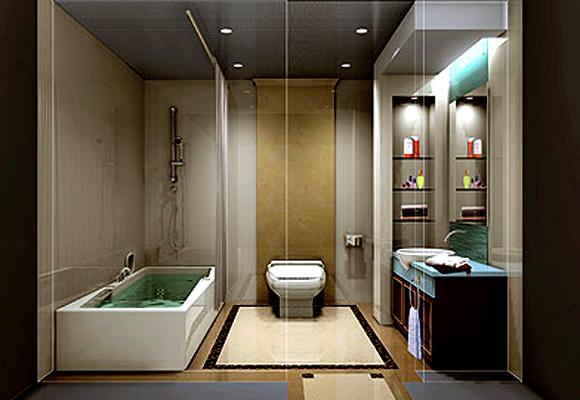 卫生间装饰图片欣赏_现代小户型装修效果图_八六(中国
