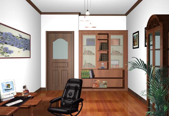 书房装修图片-中式风格装修效果图-八六装饰网装修