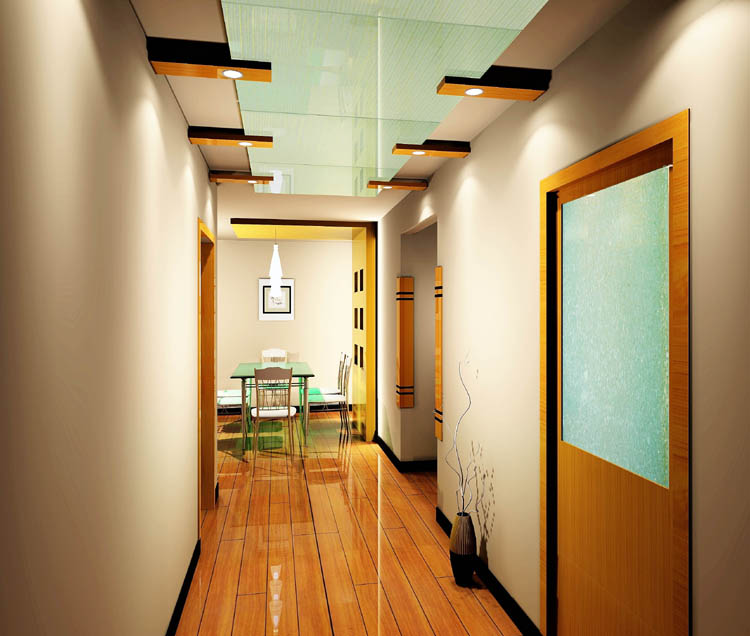 室内装饰效果图 002>中式过道装修图片