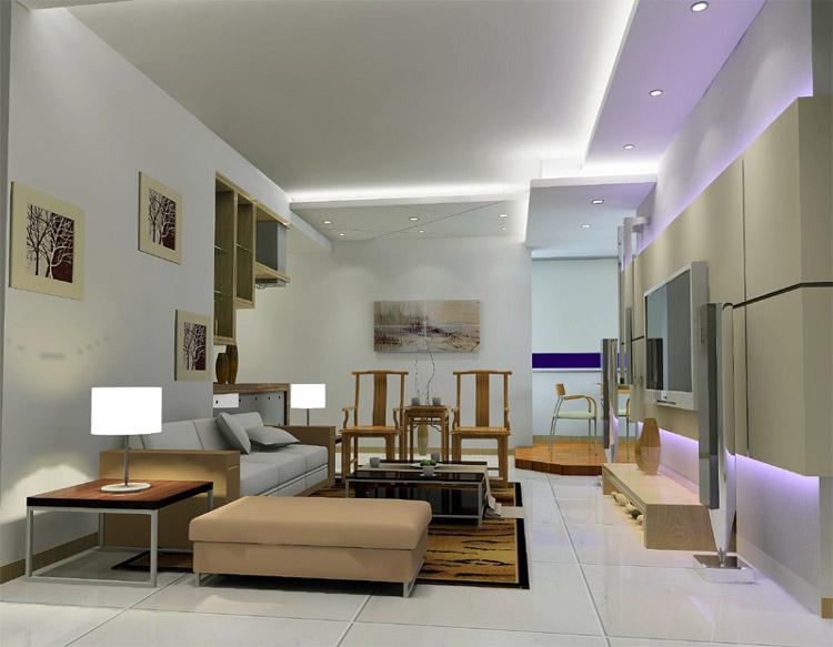 室内装饰效果图 004>简约客厅装修图片
