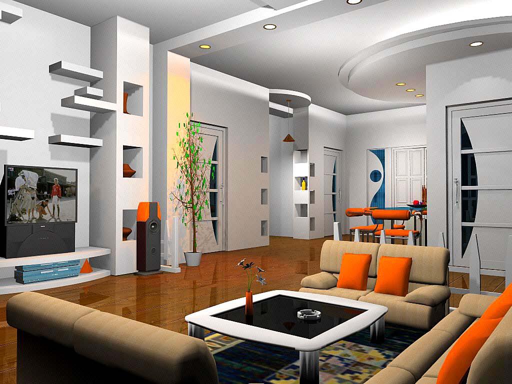 家庭装修效果图现代客厅装修图片