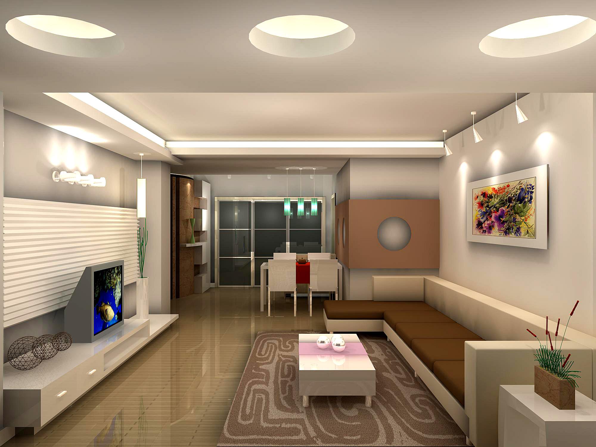 家庭客厅设计图片-客厅装修效果图-八六(中国)装饰