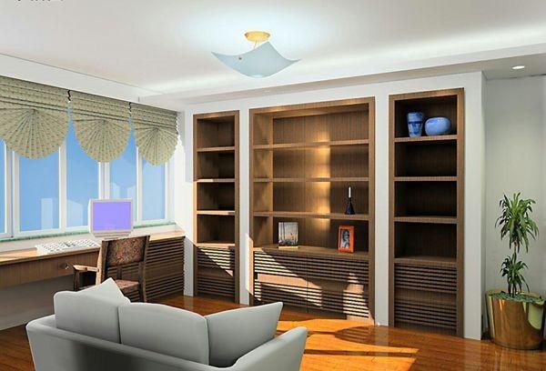 家庭装饰书房效果经典图片一-书房装修效果图-八六()