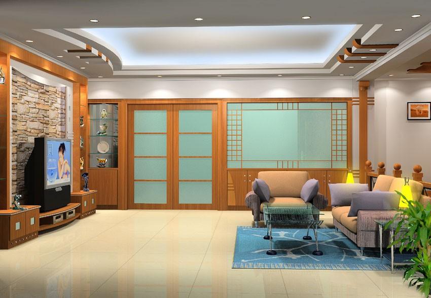 现代客厅效果图欣赏(三)-现代风格装修效果图-八六网
