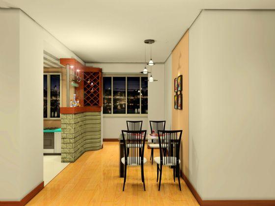 现代装修效果图 美丽餐厅图片  类型:家装 风格:现代风格 面积:未注明