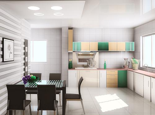 厨房图片天地展示1-餐厅装修效果图-八六装饰网装修(.