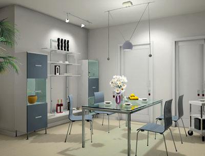 餐厅图片设计_现代小户型装修效果图_八六(中国)装饰