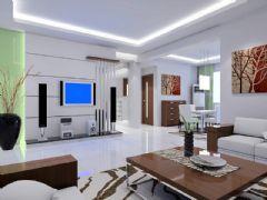 最清爽的客厅图片欣赏五