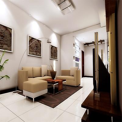 客厅装饰效果图展示_现代小户型装修效果图_八六(中国