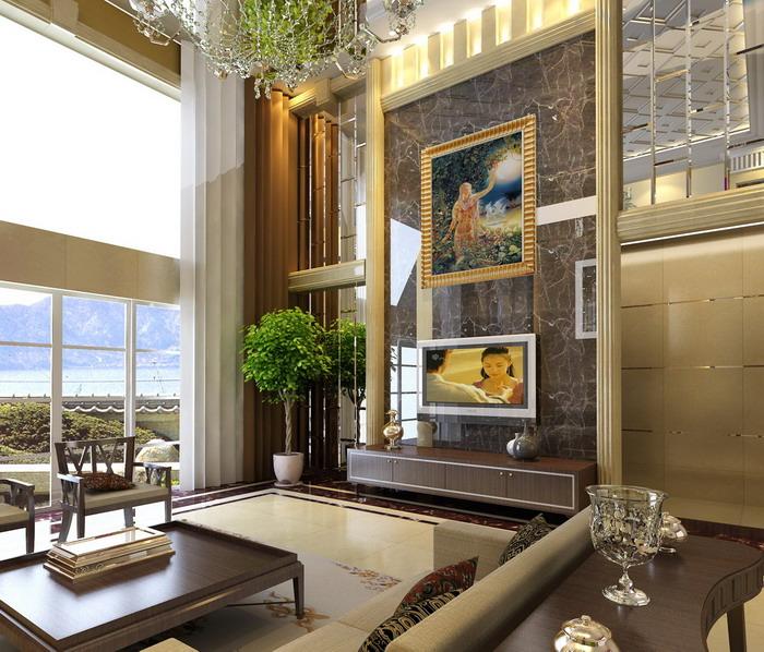 漂亮的简欧图片-客厅装修效果图-八六(中国)装饰联盟