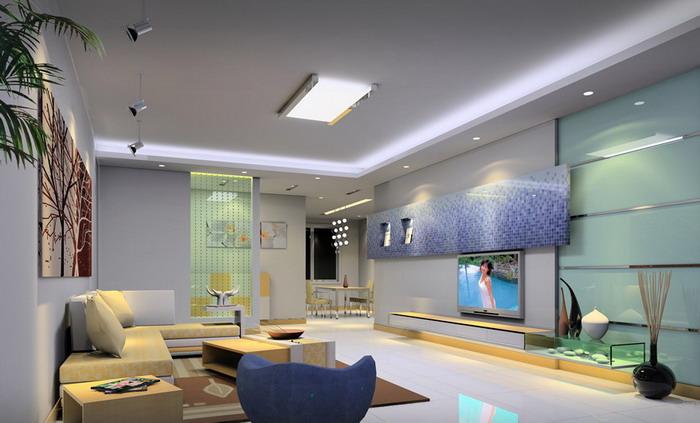 现代家庭装饰效果图片-客厅装修图片