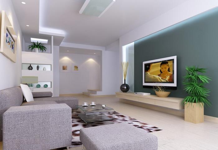 现代家庭装饰效果图片 客厅装修效果图