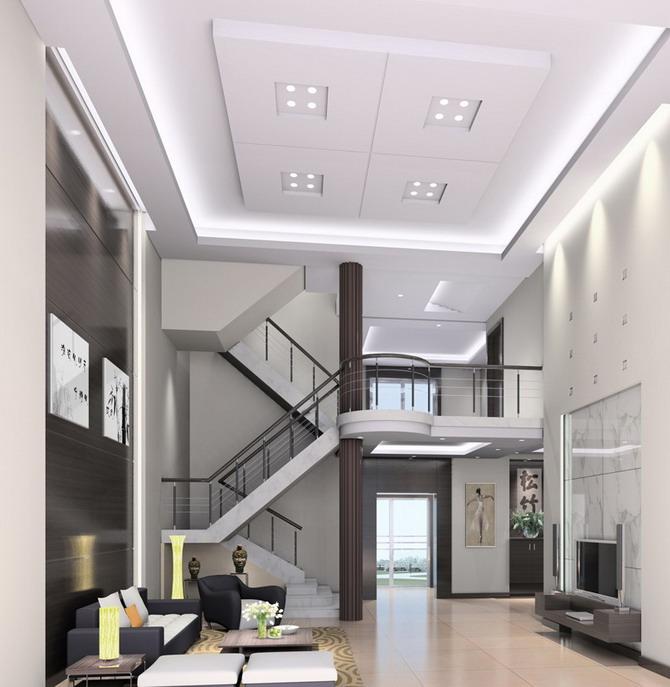 阁楼挑空图片赏析现代客厅装修图片
