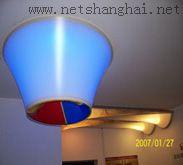 软膜天花 发光柱现代装修图片