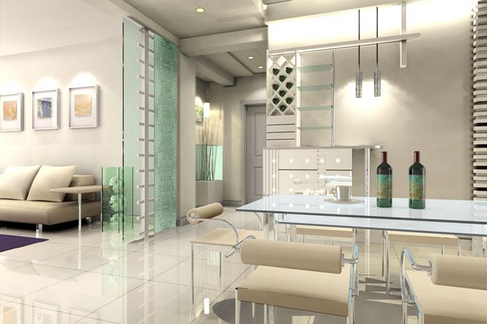 室内装饰设计效果图片四-现代风格装修效果图-八六网