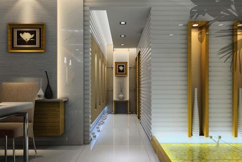 室内设计效果图片中式过道装修图片