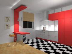 厨房效果夜晚现代风格