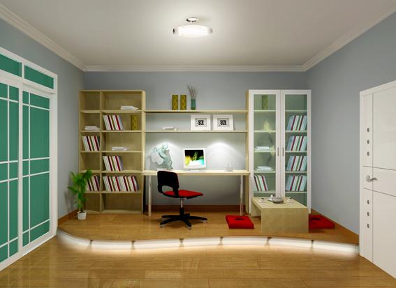 室内设计效果图现代书房装修图片