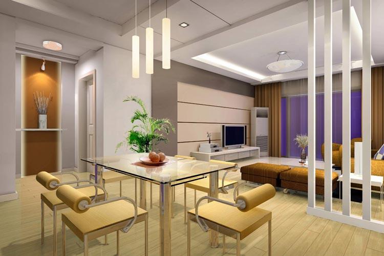 客厅背景效果图片-餐厅装修效果图-八六装饰网装修
