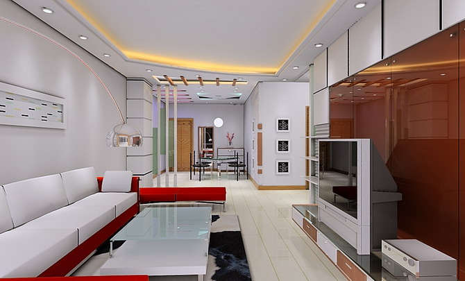 现代客厅装修效果图整套大图展示_现代装修效果图_八