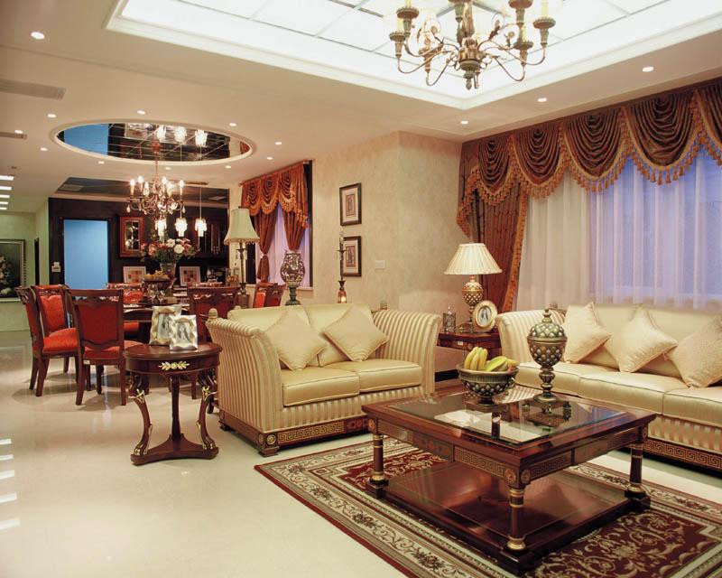 240平方经典欧式样板房图片-客厅装修图片