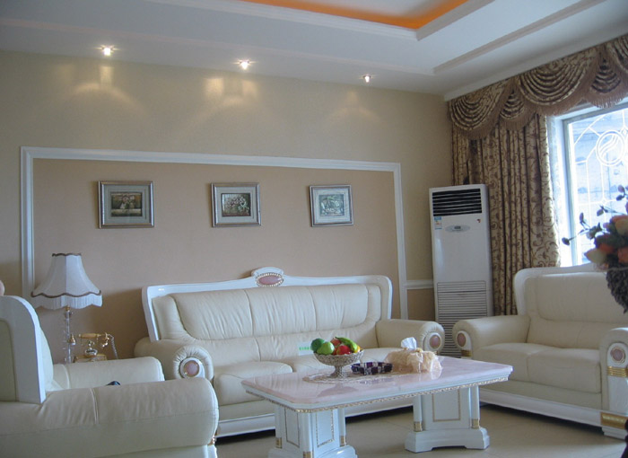 一套欧式实景图片欣赏-客厅装修图片