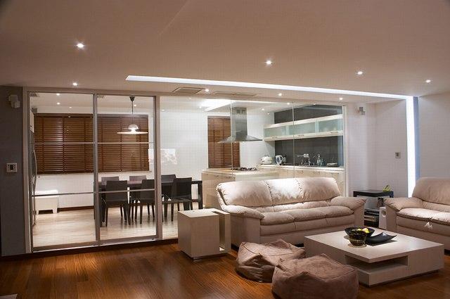 现代浅灰结合风格图片欣赏 客厅装修效果图