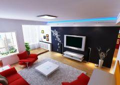 冷、暖色调客厅装修图片评比!