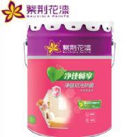紫荆花漆 净味抗污抗菌双效墙面漆内墙乳胶漆 15L